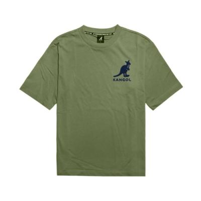 Kangol T恤 Printed Tee 運動休閒 男款 袋鼠 圓領 基本款 棉質 穿搭推薦 綠 黑 6021101472