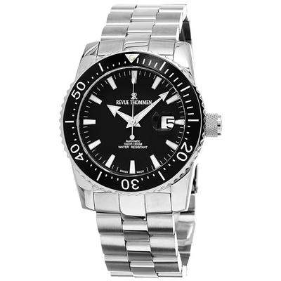 REVUE THOMMEN 梭曼錶 Diver系列 300米自動機械潛水錶 黑面x鋼帶/45.5mm (17030.2137)