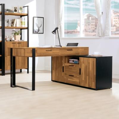 Boden-羅格5尺工業風多功能伸縮書桌/L型工作桌/辦公桌