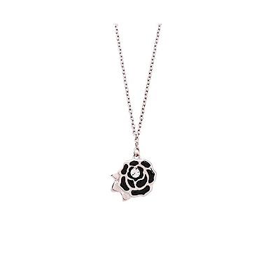 NOONOO FINGERS  925純銀鍍白金 玫瑰 項鍊