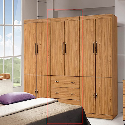 H&D 香柚木2.7尺三抽衣櫥
