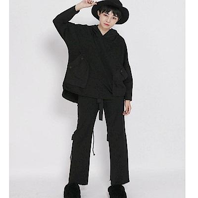 連帽衛衣港風套頭寬鬆休閒長袖上衣外套-設計所在