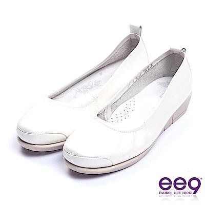 ee9 芯滿益足通勤私藏經典率性軟牛皮素面百搭便鞋 白色