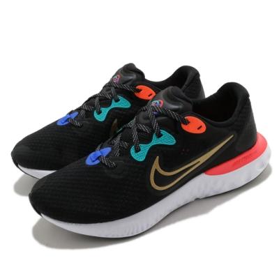 Nike 慢跑鞋 Renew Run 2 運動 男鞋 輕量 透氣 舒適 避震 路跑 健身 黑 金 DJ0033061