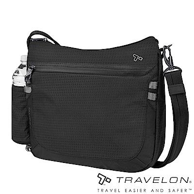 Travelon美國防盜包 休閒旅行輕便包防割鋼網斜背包/側肩包TL-43128黑18