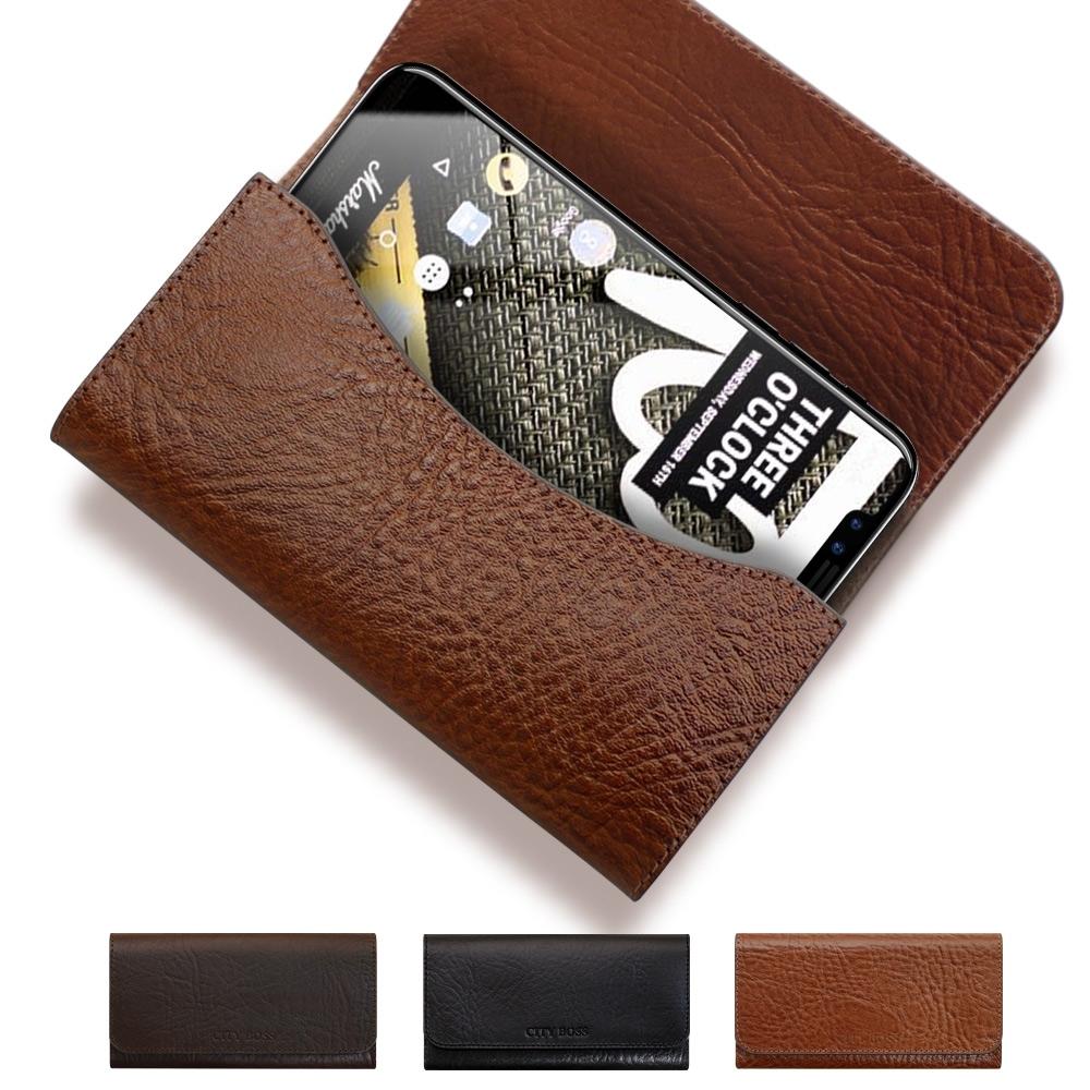 CITY BOSS 品味奢華植鞣牛皮 for iPhone SE2 可用腰掛皮套 腰間皮套