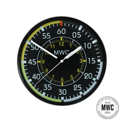 MWC瑞士軍錶 軍事設計掛鐘-22.5cm (CLK.A.SPEED)