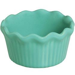 《EXCELSA》荷葉邊陶製布丁杯(綠)