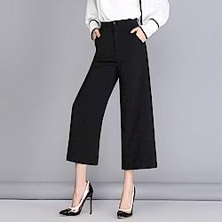 優雅舒適時尚簡約七分闊腿褲S-2XL-WHATDAY