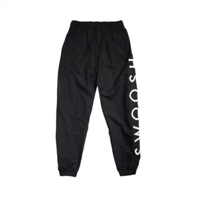 Nike 長褲 Swoosh Trousers 運動休閒 男款 縮口褲 尼龍 防風 穿搭 雙勾 黑 白 CU3891010