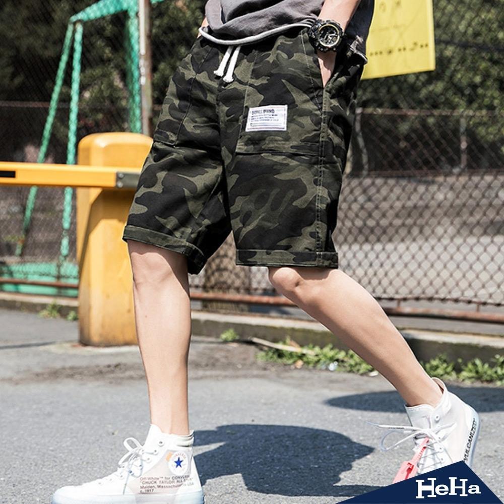 時尚潮流迷彩休閒五分短褲二色-HeHa