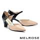 高跟鞋 MELROSE 簡約時髦撞色異材質尖頭粗高跟鞋-粉 product thumbnail 1
