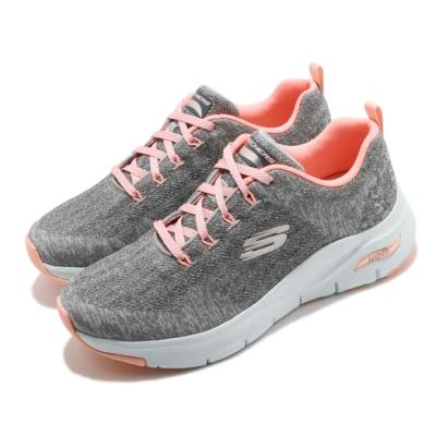 Skechers 休閒鞋 Arch Fit-Comfy Wave 女鞋 寬楦 足科醫生推薦鞋墊 專利 緩震 回彈 灰 粉 149414WGYPK