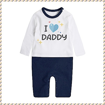 baby童衣 獨家自印把愛穿出來英文長袖連身衣 66336