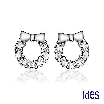 ides愛蒂思 日本輕珠寶10K耳環/蝴蝶結花圈