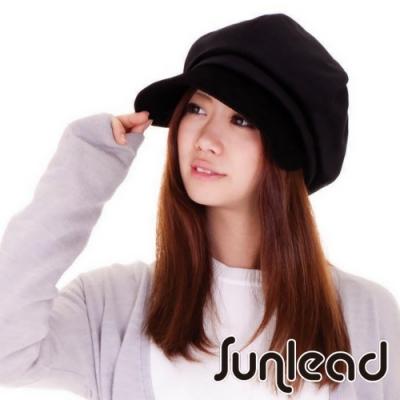 Sunlead 小顏美型款。防寒保暖護耳吸濕發熱貝蕾帽 (黑色)