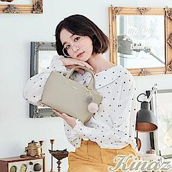 KINAZ 柔美幻化兩用斜背包-糖霜灰-花魁泡芙系列