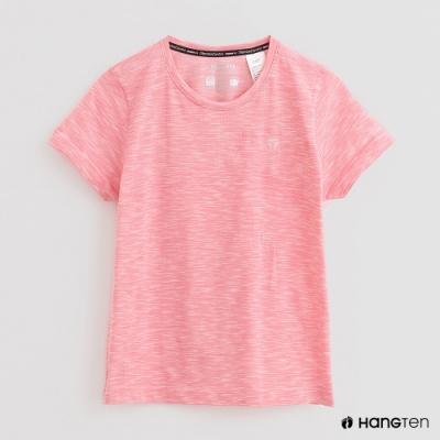 Hang Ten -女裝 - ThermoContro-簡約薄款圓領短袖T恤 - 粉
