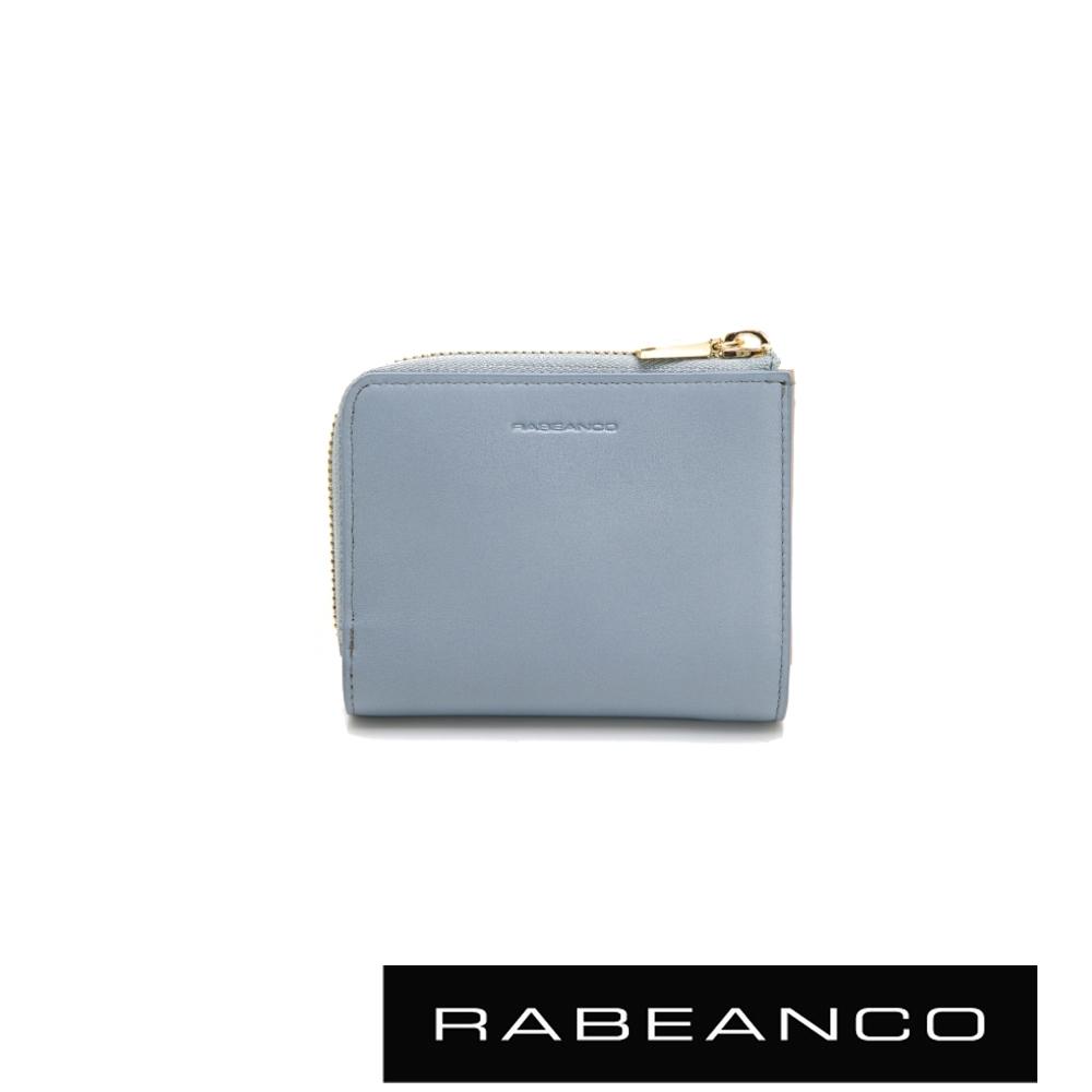 RABEANCO 歐系經典單拉鍊短夾 水藍