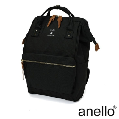 anello RE:MODEL 防潑水經典口金後背包 黑色