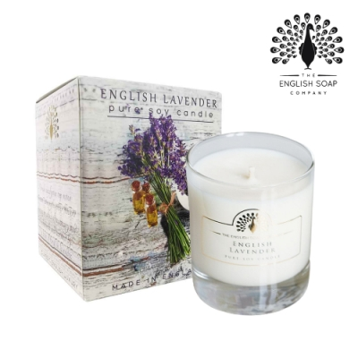 The English Soap Company 綴花卉香氛蠟燭-英國薰衣草 English Lavender 170g