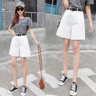 【韓國K.W.】韓流幸福甜氛五分牛仔短褲-3色