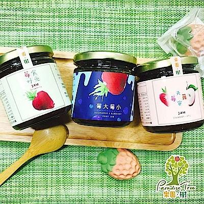 樂園樹 莓天開心果醬組(三口味各一,共三瓶)+贈法式軟糖1包口味隨機