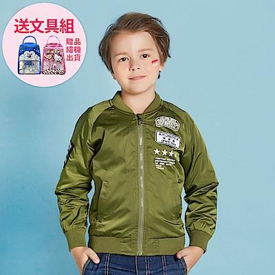 JJLKIDS 空中戰士薄飛行外套(軍綠)
