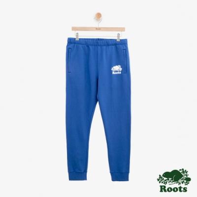 男裝Roots 經典刷毛棉質長褲-藍