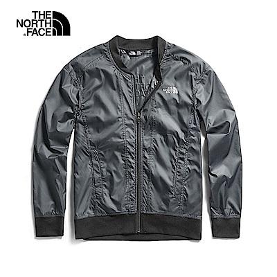 The North Face北面女款黑色防潑水風衣外套 3V77JK3