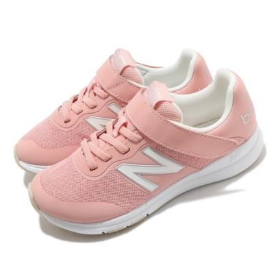 New Balance 慢跑鞋 Premus Version 寬楦 童鞋 紐巴倫 輕量 透氣 舒適 魔鬼氈 中童 粉 白 YOPREMPNW
