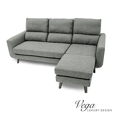 Vega 法蘭克L型布沙發/貴妃椅/獨立筒(2色)-DIY