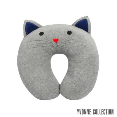 Yvonne Collection 貓咪造型兒童頸枕-淺灰
