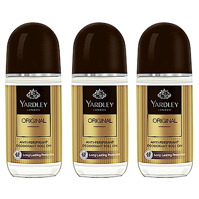 YARDLEY雅麗 經典男性體香劑 50ml (3入)