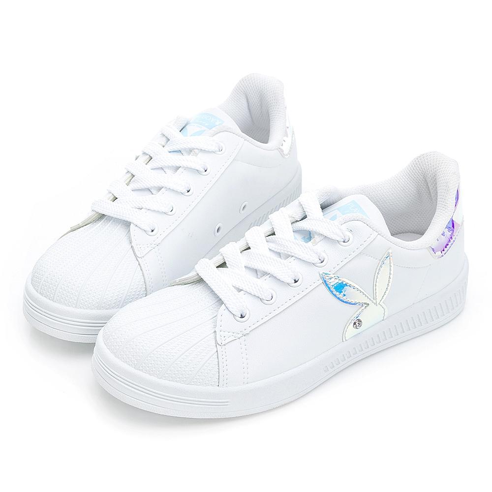 PLAYBOY  閃閃霓光貝殼小白鞋 -白貝殼-Y72211K