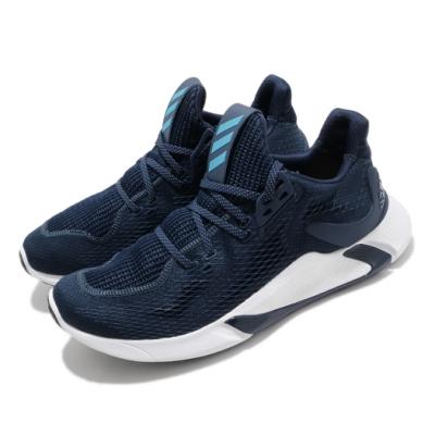 adidas 慢跑鞋 Edge XT 運動休閒 襪套式 男鞋 愛迪達 三線 路跑 緩震 球鞋穿搭 藍 白 EG9703