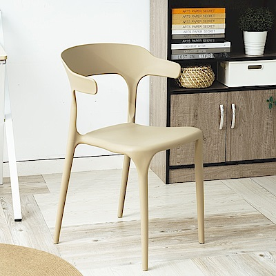 [買一送一 時時樂限定] 樂嫚妮 北歐風牛角休閒餐椅/椅子-7色可選-平均$449/張
