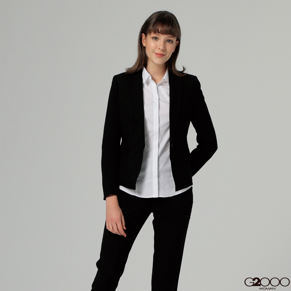 G2000商務平紋套裝上身-黑色