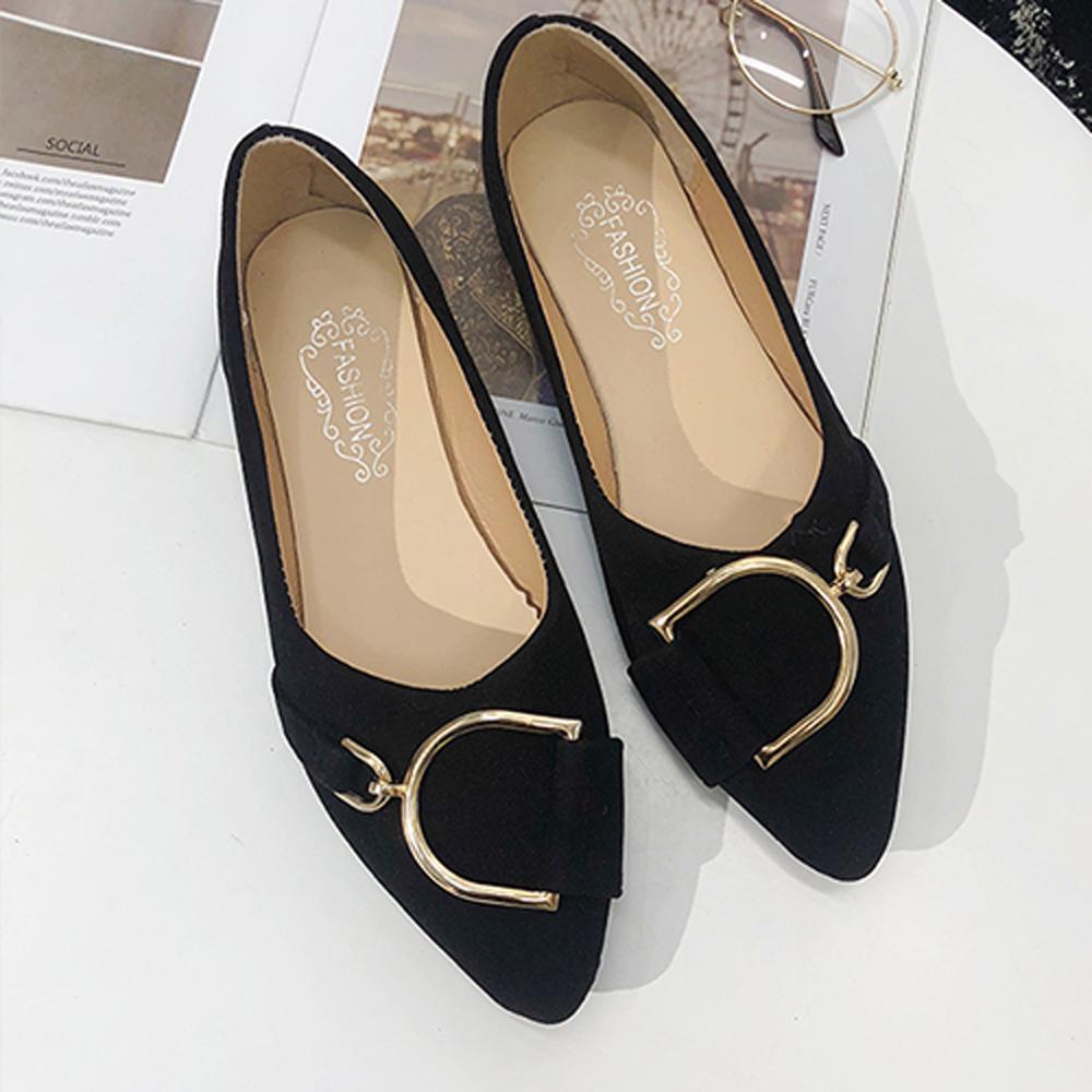 KEITH-WILL時尚鞋館 歐洲款嬌豔航線平底鞋-黑色