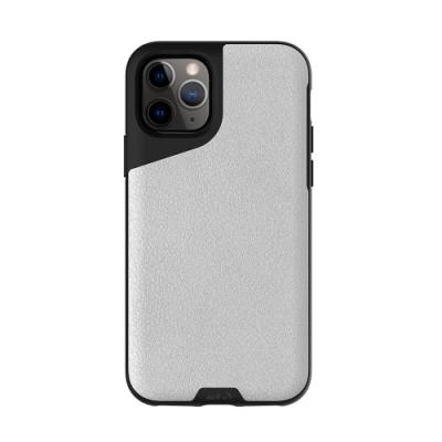 Mous Contour iPhone 11 Pro 天然材質防摔保護殼-雅白皮革