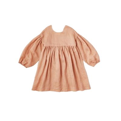 MARLMARL 圍裙/希臘系列/杏粉橘/大童