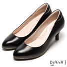 DIANA 漫步雲端輕盈美人B款-素雅真羊皮輕音制鞋-黑