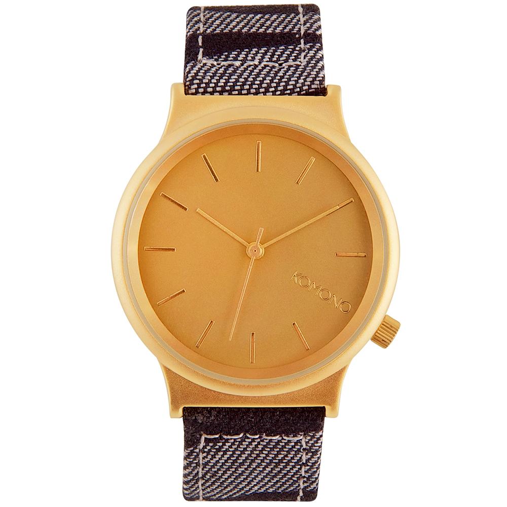 KOMONO Wizard Print 腕錶-斑馬丹寧/37mm