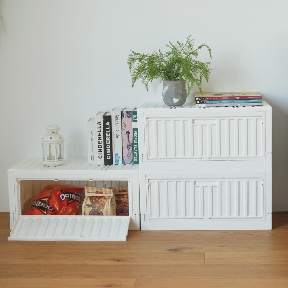 完美主義 側開下掀式收納椅/收納箱/貨櫃/床頭櫃-2入(5色)