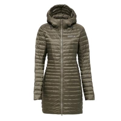 法國【EiDER】女輕量保暖透氣長版羽絨外套 / 8EIV2807-綠