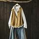 麻花紋棉質針織背心寬鬆開衫馬夾上衣-設計所在