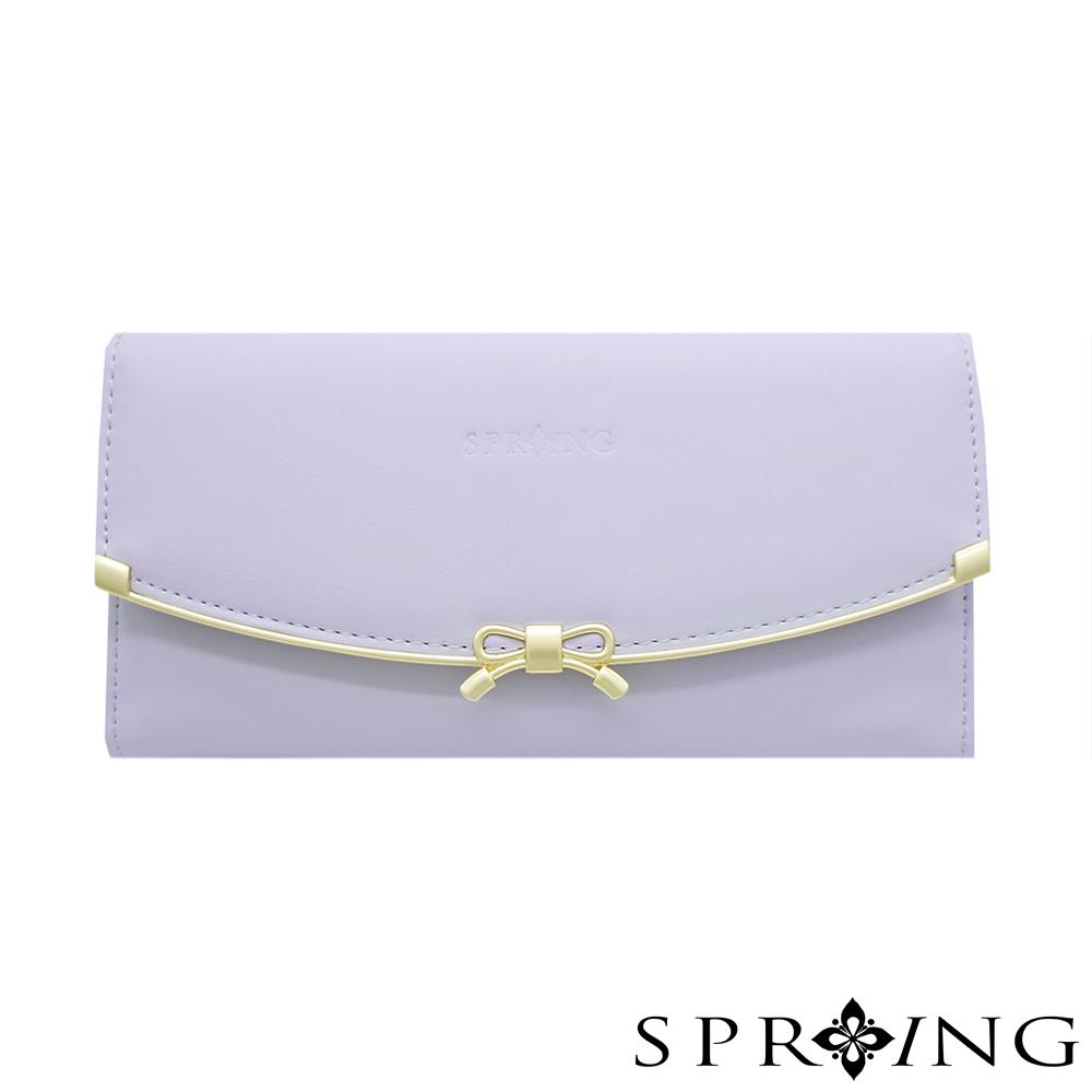 SPRING-甜美蝴蝶結長夾-薰衣草紫