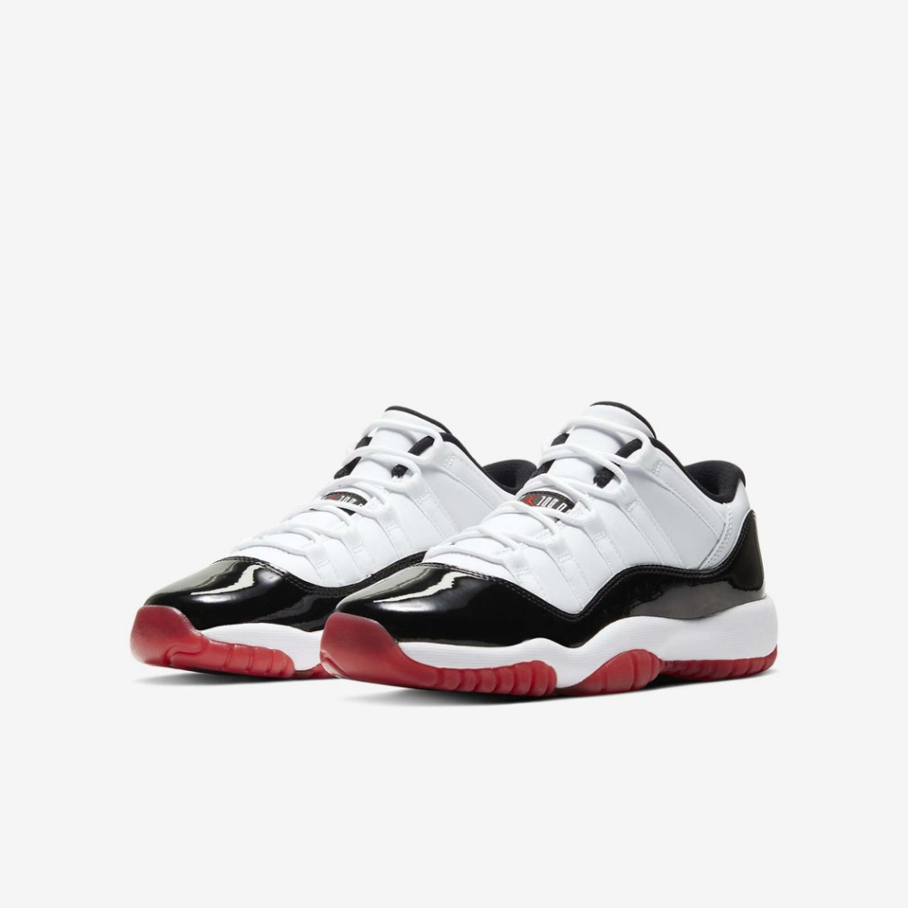 Nike 籃球鞋 Air Jordan 11代 Low 女鞋 大童 AJ11 Concord Bred 白黑紅 528896160 @ Y!購物