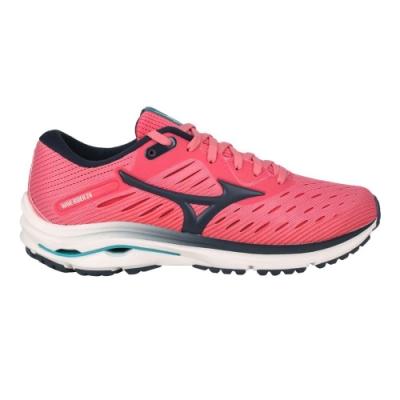 MIZUNO WAVE RIDER 24 女慢跑鞋-路跑 避震 美津濃 J1GD200330 粉紅黑