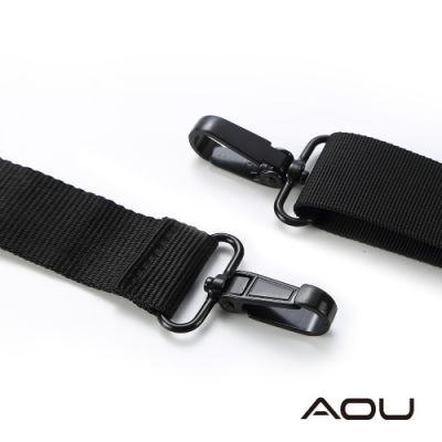 AOU 輕量活動式強化耐重背帶 側背帶 公事包背帶 尼龍背帶(黑色)03-007D1